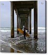Scripps Pier Surfer 2 Acrylic Print