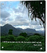 Scripture And Picture Psalm 121 1 Acrylic Print