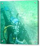 Scuba Diving Acrylic Print