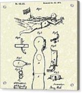 Scuba Suit 1876 Patent Art Acrylic Print by Prior Art Design