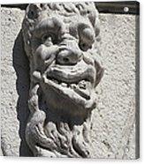 Sculpture Of A Deformed Human Head Acrylic Print