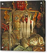 Sculpture Of Wrathful Protective Deity Acrylic Print by Gordon Wiltsie