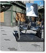 Sculptures On The Corner Acrylic Print