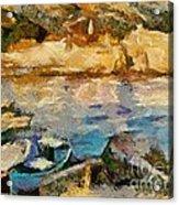 Sea Front On Mediterranean Sea Acrylic Print