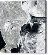 Sea Ice Lines The Coasts Of Sweden Acrylic Print