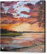 Sea Island Sunset Acrylic Print