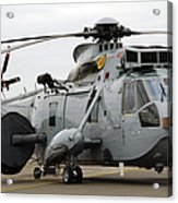 Sea King Helicopter Of The Royal Navy Acrylic Print