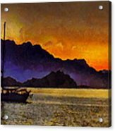 Sea Of Cortez Sunset In Baja Acrylic Print