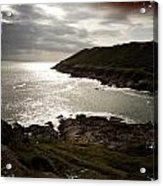 Sea Scape On The Gower Acrylic Print
