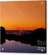 Sea Splashing Acrylic Print