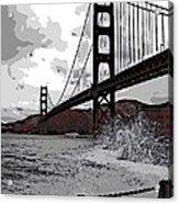Sea Spray Under The Golden Gate Bridge Acrylic Print