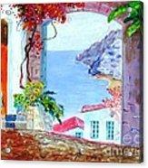 Sea View Acrylic Print by Kostas Dendrinos