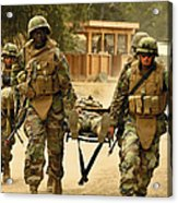 Seabees Conduct A Mass Casualty Drill Acrylic Print