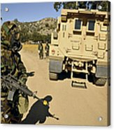 Seabees Conduct A Wash Acrylic Print