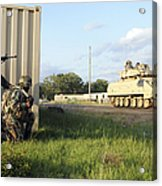 Seabees Prepare To Assault A Simulated Acrylic Print