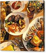 Seafood And Steak Buffet Dinners Acrylic Print