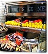 Seafood Market In Nice Acrylic Print