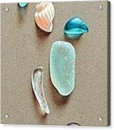 Seaglass Pieces Acrylic Print