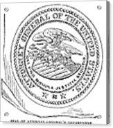 Seal: Attorney General Acrylic Print