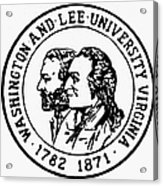 Seal: Washington & Lee Acrylic Print
