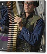 Seaman Prepares To Load Ammunition Acrylic Print