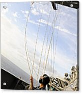 Seaman Raises The Foxtrot Flag Acrylic Print