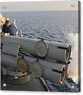 Seamen Fire An Air Slug From A Mk-32 Acrylic Print