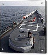 Seamen On The Forecastle Acrylic Print