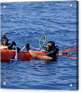 Search And Rescue Swimmers Retrieve Acrylic Print