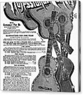 Sears Ad - Guitars 1902 Acrylic Print
