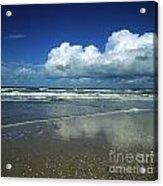 Seascape.normandy.france Acrylic Print by Bernard Jaubert