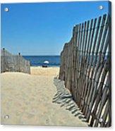seashore 100 Cape Henlopen Beach walkway Acrylic Print
