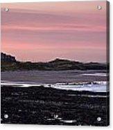 Seashore At Sunset, Northumberland Acrylic Print
