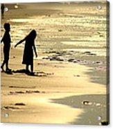 Seaside Siblings Acrylic Print
