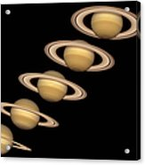 Seasons On Saturn Acrylic Print