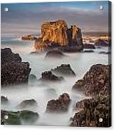 Seastacks In The Mists Acrylic Print