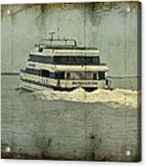 Seastreak Catamaran - Ferry From Atlantic Highlands To Nyc Acrylic Print