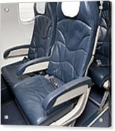 Seats On An Airliner Acrylic Print