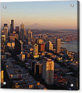 Seattle Blue Hour Acrylic Print