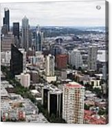 Seattle From The Needle Acrylic Print