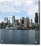 Seattle From The Water Acrylic Print