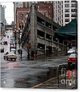 Seattle Parking Garage Orig Acrylic Print