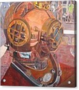 Seaworld Copper Diving Helmet Acrylic Print