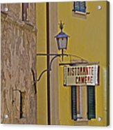 Secluded Restaurant Of Tuscany Acrylic Print
