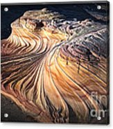 Second Wave At Dusk Arizona Sandstone Wonder Acrylic Print