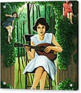 Secret Garden Fantasy Fairy Acrylic Print