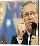 Secretary Of Defense Donald H. Rumsfeld Acrylic Print