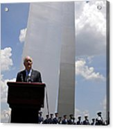 Secretary Of The Air Force Salutes Acrylic Print by Stocktrek Images