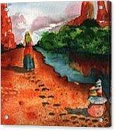Sedona Arizona Spiritual Vortex Zen Encounter Acrylic Print