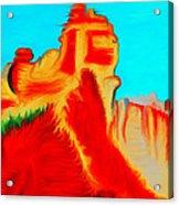 Sedona Hills - Fire At Sunset - Arizona Acrylic Print